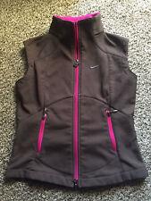Nike Brown Pink Fleece lined Running Walking Lightweight Vest Size Small