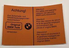 BMW E28 Aufkleber Sticker Motorraum BMW Teile BMW 518 - M535i/M5 (E28)