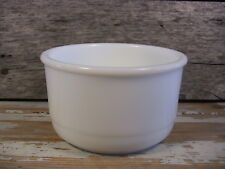 """Small Vintage Mixing Bowl for Stand Mixer Thick Rim Milk Glass Cylindrical 6.5"""""""