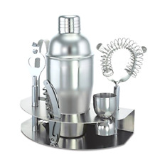 Stainless Steel Cocktail Shaker Mixer Kit Drink Bartender Tools Bar Set Durable
