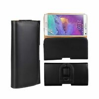 HOLSTER LEATHER WALLET CASE COVER POUCH BAG WITH BELT CLIP FOR CELL PHONES
