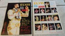 Elvis Presley Kalender / Concert Souvenir Calendar 2000 + Promo-Plakat