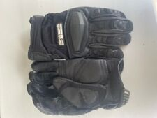 Men's Black Leather Speed and Strength Motorcycle Riding Winter Gloves Size XL