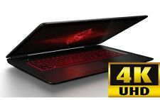 "HP Omen 17.3"" 4K UHD Gaming Laptop i7-7700HQ 16GB 2TB+128GB SSD 8GB GTX1070 W10P"