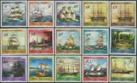 Papua New Guinea 1987 SG543-557 Historical Ships series MNH