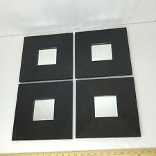 "IKEA MALMA Mirrors Black Modern Art Wall 10"" Inch Squares 002.328.30 Set of 4"