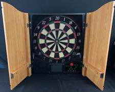 Halex Electronic Dartboard In Oak Cabinet Tested Works