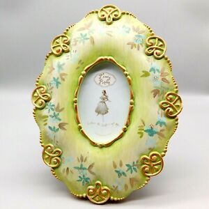 Tracy Porter Painted Oval Eden Picture Frame Green Gold French Provincial Boho