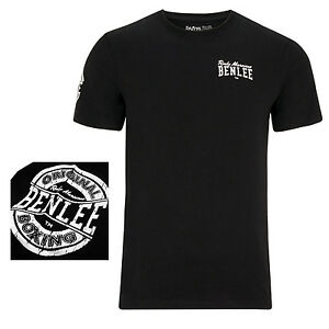 Benlee Rocky Marciano Black Logo T-Shirt Boxing Round Logo On Arm Regular-Fit