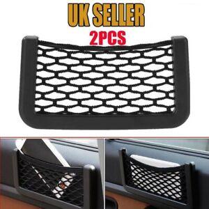 2 X Van Truck Car Net Mesh Storage Bag Pocket Organizer Holder Phone/Wallet UK
