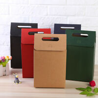 Colorful Kraft Paper Packaging Box for Wedding Party Candy Crafts Boxes w Handle
