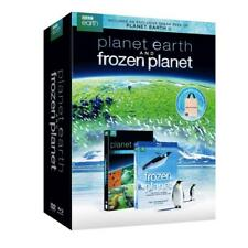 NEW BBC Earth Planet Earth & Frozen Planet Giftset (7 DVDs) w/Canvas Tote WA83