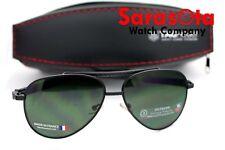 Tag Heuer 0881 301 5814 Aviator Avant Garde Eyewear Black Metal Frame Sunglasses