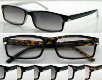 SL158 Tinted Lenses Reading Sunglasses Spring Hinges UV400/Trendy Metal Detailed