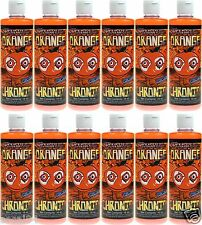 Orange Chronic Glass Hookah Pipe Cleaner 16oz Bottle (1 Case -x12 Bottles)