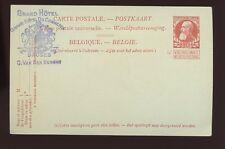BELGIUM STATIONERY CARD c1920 GRAND HOTEL DU COMMERCE BRUGES ADVERTISING