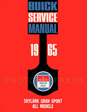 1965 Buick Skylark Gran Sport Shop Manual 65 Gs Repair Service Book Supplement