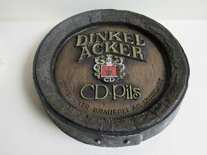 Vintage DinkelAcker CD-Pils Lager 3D Faux Wooden Beer Barrel Man Cave Bar Sign