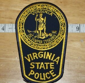 Virginia    State Police Arm  Patch