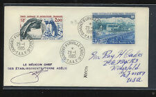French  Antarctic  109,  C79  on cover                 KEL0830