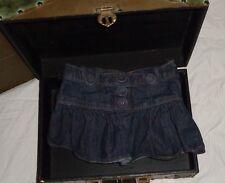 Faded Glory Denim Skirt Dark Wash Blue Pleated Mini Size 5 5T