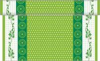 1 Tischläufer Rabea in Grün aus Linclass® Airlaid 40 cm x 4,80 m - Ostern