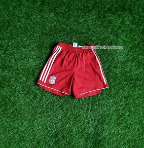 LIVERPOOL 2006 2007 2008 SHORTS FOOTBALL SOCCER WHITE RED ADIDAS BOYS