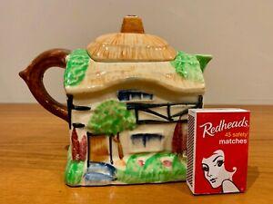 Cottage Ware Teapot Vintage 2 Cup Japan Thatched Cottage 1950s Cottageware