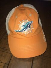 New listing NWOT - Miami Dolphins Adjustable Strap Hat Cap NFL TEAM APPAREL ONE SIZE Logo