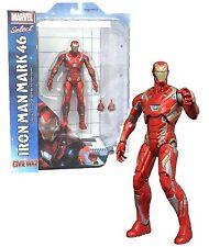 "MARVEL SELECT Civil War Official Licensed 7"" IRON MAN Mark 46 Figure Set Tony"