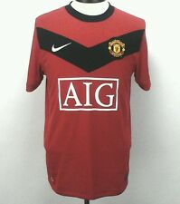NIKE Manchester United Eric #8 Jersey MUFC AIG Red Soccer Futbol Mens Small S