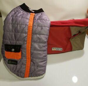 Kurgo Dog Car Seat Pet Booster Under 30 lbs. Khaki & Red AKC Jacket Vest Small