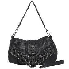 Skull Crossbody Bag Biker Purse Accessories Handbag Leather Studded Punk Black
