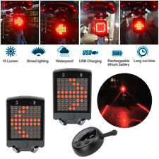 Remote Control Wireless Bike Bicycle Laser LED Tail Lamp Turn Signal Light NEW