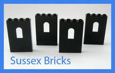 Lego Castle - 4x Black Wall Window Panels 1x4x5 60808 - New Pieces