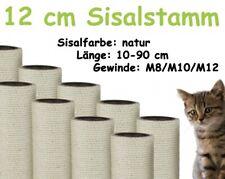 12 cm Sisalstamm, Ersatzstamm für Kratzbaum, 10-90 cm (M8/M10/M12)(Natur)