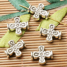 12pcs dark silver color 2sided cross shaped  spacer bead  EF2834