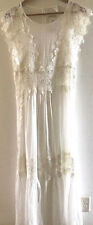 SUNDANCE CATALOG Beautifu Flannery Lace White Maxi Dress Size 14 Orig. $188 NWT