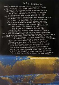 Radiohead poster - 2017 Tour - Original promo poster