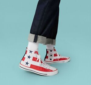 Chuck Taylor All Star High Stars Stripes Men's Shoes size 10.5 167836F USA flag