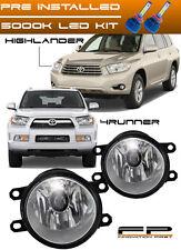 LED 10-15 Toyota 4Runner 08-10 Highlander Clear Replacement Fog Light Housing
