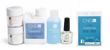 CND Creative Nail Retention Liquid 4oz + Pink/White .8oz + Velocity Natural 100
