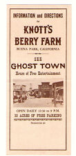 1950 Knotts Berry Farm Ghost Town Buena Park Ca Information & Directions Map
