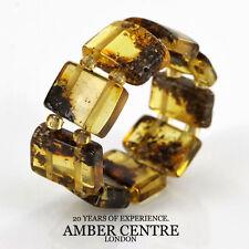 Precious Vintage GERMAN BALTIC AMBER Handmade Elastic Ring RB028 RRP£35!!!
