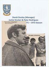 DEREK DOOLEY/J SINCLAIR/P RODRIGUES SHEFFIELD WED RARE ORIG SIGNED MAG CUTTING