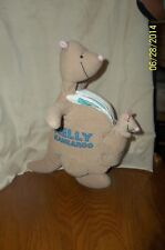 "Kelly Kangaroo Cloth Plush Soft Book 12"" With Baby In Pouch"
