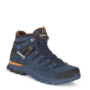 Aku Alterra Lite Mid Gtx Scarpa uomo trekking impermeabile blu orange