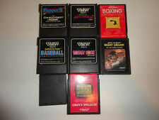 lot 8 games colecovision, activision, baseball, donkey kong, pepper 2. untested.