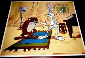 Bugs Bunny Cel Tasmanian Devil Look No Meat Warner Brothers Special Proof Cell