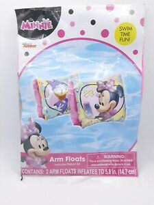 """5.8"""" inch Inflatable Arm Floats (Minnie Mouse), Brand New & Sealed for ages 3+"""